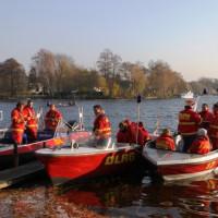 Aufklaren der Motorrettungsboote